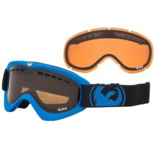 Dragon Alliance DX Snowsport Goggles in Pop Blue/Jet Amber - Closeouts