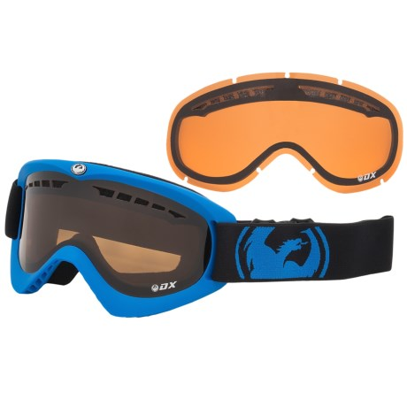 Dragon Alliance DX Snowsport Goggles in Pop Blue/Jet Amber