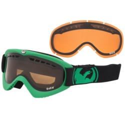 Dragon Alliance DX Snowsport Goggles in Pop Green/Jet Amber