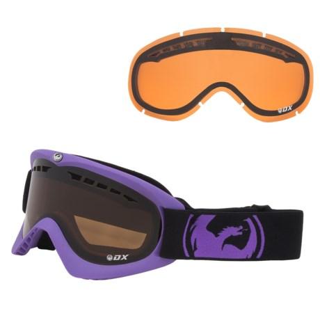 Dragon Alliance DX Snowsport Goggles in Pop Purple/Jet/Amber Rl