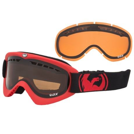 Dragon Alliance DX Snowsport Goggles in Pop Red/Jet Amber
