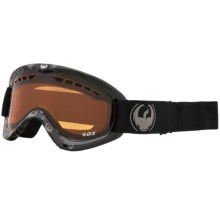 Dragon Alliance DX Snowsport Goggles - Ionized Lens in Icon Grey/Amber - Closeouts
