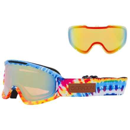 Dragon Alliance DX2 Ionized Ski Goggles - Extra Lens in Tie Dye/Gold Ion/Yellow Red Ion - Overstock