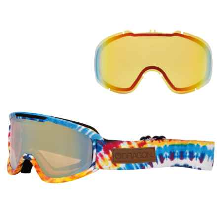 Dragon Alliance DX2 Ski Goggles - Extra Lens in Tie Dye/Gold Ion-Yellow Red Ion - Closeouts