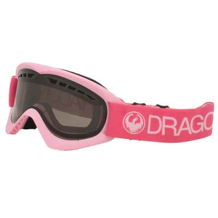 Dragon Alliance DXS Ski Goggles in Pink/Smoke - Closeouts