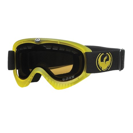 Dragon Alliance DXS Snowsport Goggles in Translucent Matte Yellow/Jet