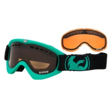 Dragon Alliance DXS Snowsport Goggles - Interchangeable Lens in Pop Teal/Jet Amber - Closeouts