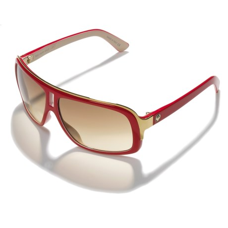 Dragon Alliance GG Sunglasses - Color Injected (For Men and Women) in Red Ivory Split/Bronze Gradient