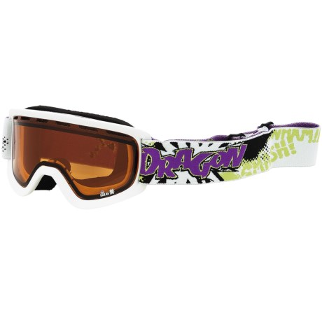 Dragon Alliance Lil D Snowsport Goggles (For Kids) in Powder/ Amber