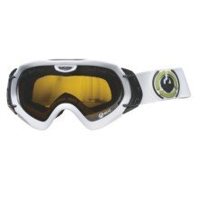 Dragon Alliance Mace ECO Snowsport Goggles - Extra Ionized Lens in Powder/Jet/Pink Ionized - Closeouts