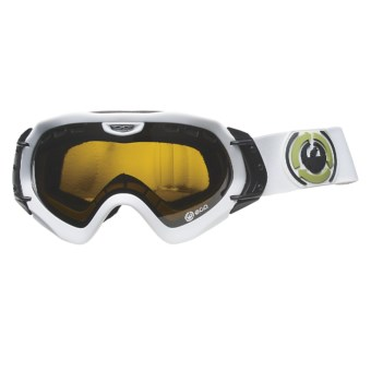Dragon Alliance Mace ECO Snowsport Goggles - Extra Ionized Lens in Powder/Jet/Pink Ionized