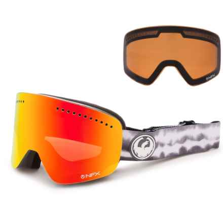 Dragon Alliance NFX Ionized Ski Goggles - Extra Lens in Onus Grey/Red Ion/Amber - Overstock