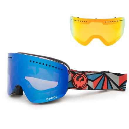Dragon Alliance NFX Ski Goggles - Extra Lens in Structure/Bluesteel/Yellow Red Ion - Overstock