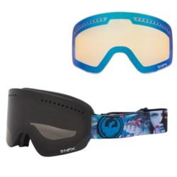 Dragon Alliance NFX Snowsport Goggles - Ionized, Interchangeable Lens in Scoph Dap/Dark Smoke/Yellow Blue Ion