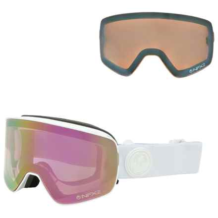 Dragon Alliance NFX2 Ski Goggles - Extra Lens in White Out/Pink Ion + Ionized - Closeouts