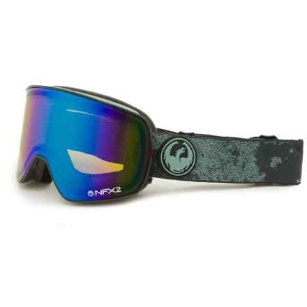 Dragon Alliance NFX2 Ski Goggles - Polarized in Mason Grey/Flash Green - Closeouts