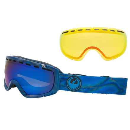 Dragon Alliance Rogue Ski Goggles - Extra Yellow Lens in Spill/Blue Steel-Yellow Red Ion - Closeouts