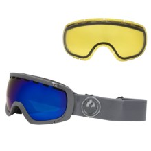 Dragon Alliance Rogue Ski Goggles - Interchangeable, Extra Yellow Lens in Grey Matter/Dark Smoke Blue/Yellow - Closeouts