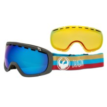 Dragon Alliance Rogue Ski Goggles - Interchangeable, Extra Yellow Lens in Layer/Dark Smoke Blue-Yellow Red Ion - Closeouts
