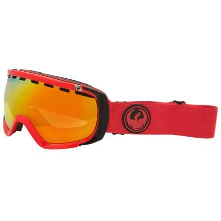Dragon Alliance Rogue Ski Goggles - Ion Lens in Bitter/Yellow Red Ion - Closeouts