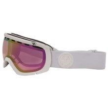 Dragon Alliance Rogue Ski Goggles - Ion Lens in White Out/Pink Ionized - Closeouts