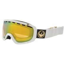 Dragon Alliance Rogue Snowsport Goggles in White/Gold Ion - Closeouts