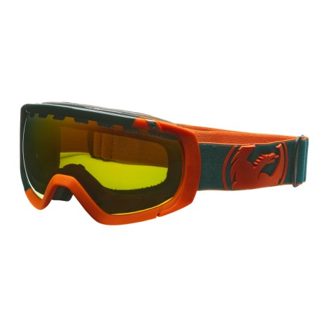Dragon Alliance Rogue Snowsport Goggles - Spherical Lens in Angle Melon Teal/Red Ionized