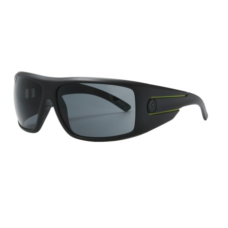 Dragon Alliance Shield Lime Stripe Sunglasses in Jet Lime/Grey