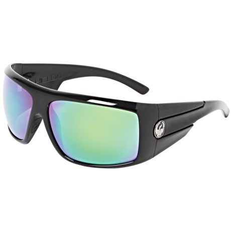 Dragon Alliance Shield Sunglasses in Jet/Green Ion