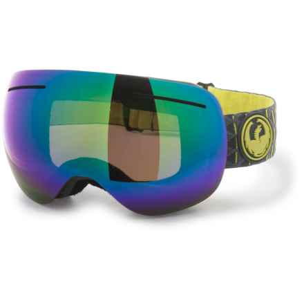 Dragon Alliance X1S Ski Goggles - Extra Lens in Amp/Green Ion/Amber - Overstock