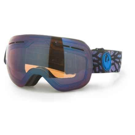 Dragon Alliance X1S Ski Goggles - Extra Lens in Olio/Flash Blue/Dark Smoke - Overstock