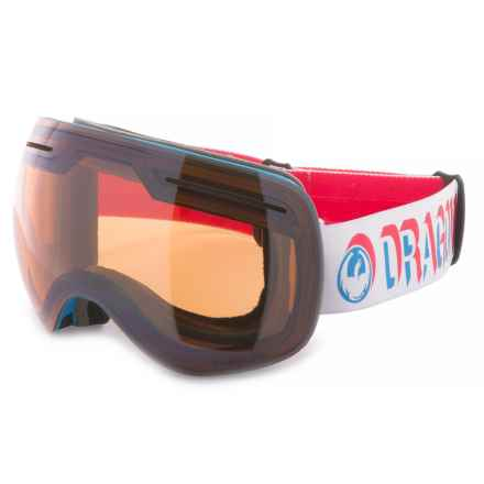 Dragon Alliance X1S Ski Goggles - Extra Lens in Verge/Flash Blue/Dark Smoke - Overstock