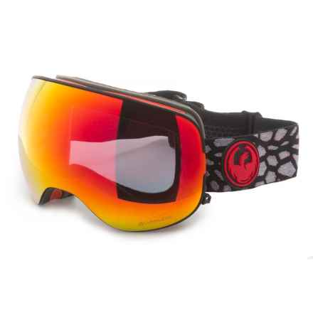Dragon Alliance X2 Ski Goggles - Polarized Lens in Olio/Red Ion/Rose - Overstock