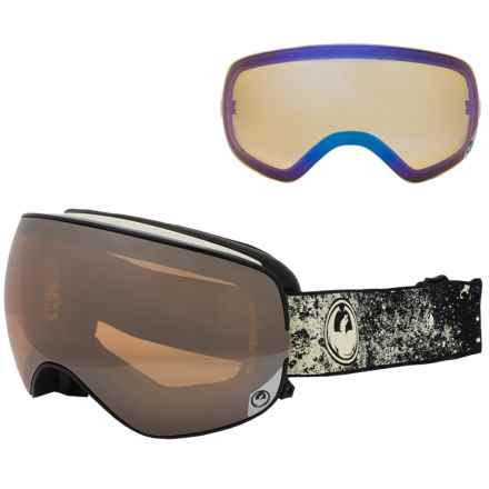 Dragon Alliance X2s Ski Goggles - Extra Lens in Energy White/Ionized + Yellow Blue Ion - Closeouts