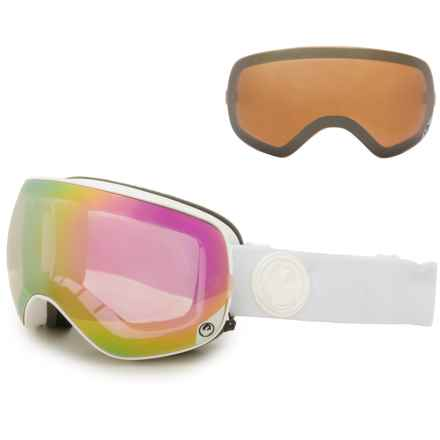 Dragon Alliance X2s Ski Goggles - Extra Lens in White Out/Pink Ion + Ionized - Closeouts