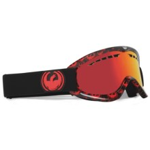Dragon Optical DX Snowsport Goggles in Black/Red Icon Logo/Red Ion - Closeouts