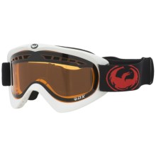 Dragon Optical DX Snowsport Goggles in White W/ Amber Lens - Closeouts