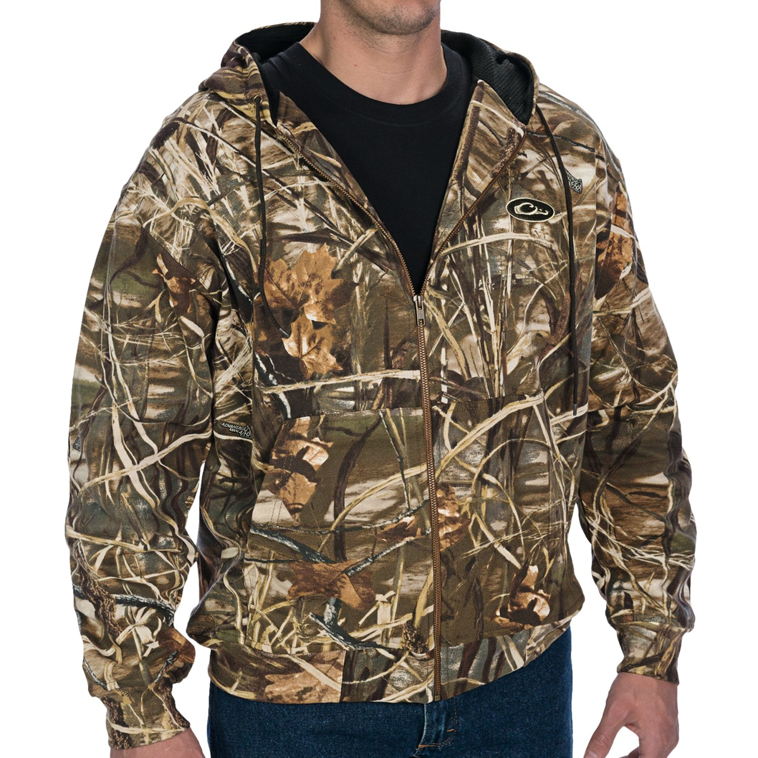 Drake Camo Hoodie Sweatshirt (For Big Men) in Realtree Max-4