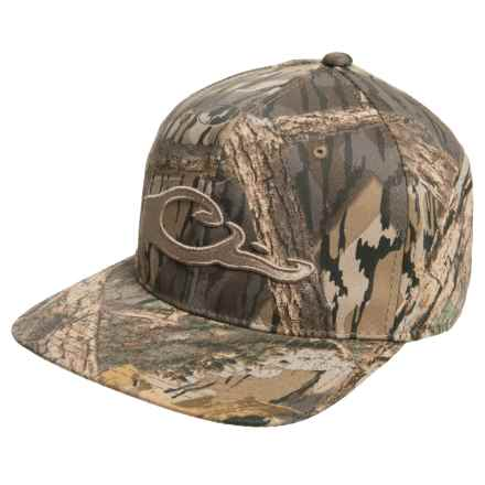 Drake Camo Snap-Back Baseball Cap - Flat Bill (For Men) in Mossy Oak Shadow Branch - Closeouts
