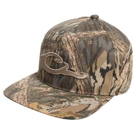 Drake waterfowl mossy oak shadow branch camo snap back for Flat bill fishing hats