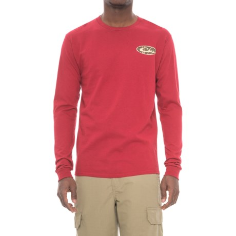 Drake Camouflage Logo T-Shirt - Long Sleeve (For Men) in Cardinal