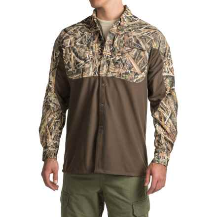 Drake EST Eqwader Two-Tone Shirt - Waterproof Panel, Long Sleeve (For Men) in Mossy Oak Shadow Grass Blades - Closeouts