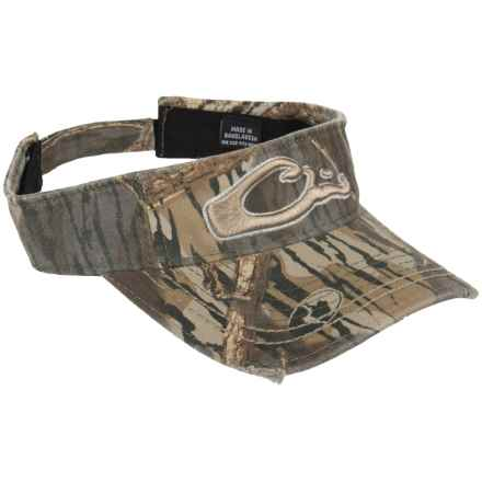 Drake Logo Camo Visor (For Men) in Mossy Oak Shadowbranch - Closeouts