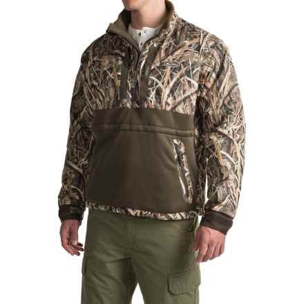 Drake LST Heavyweight Eqwader® Jacket - Waterproof, Zip Neck (For Men) in Mossy Oak Shadow Grass Blades - Closeouts