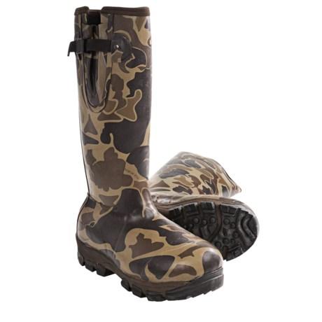 Сапоги - торпеды : новая форма утепленных герметичных сапог. Drake-lst-knee-high-mudder-old-school-rubber-boots-waterproof-insulated-for-men-in-old-school-camo~p~6919f_01~460.2