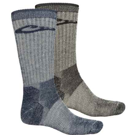 Drake Merino Wool Boot Socks - 2-Pack, Crew (For Men) in Denim/Black - Closeouts