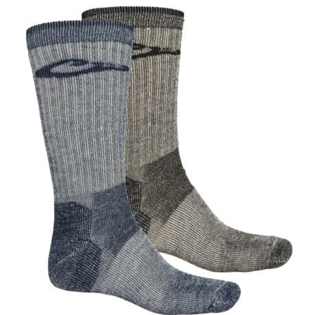Drake Merino Wool Boot Socks - 2-Pack, Crew (For Men) in Denim/Black