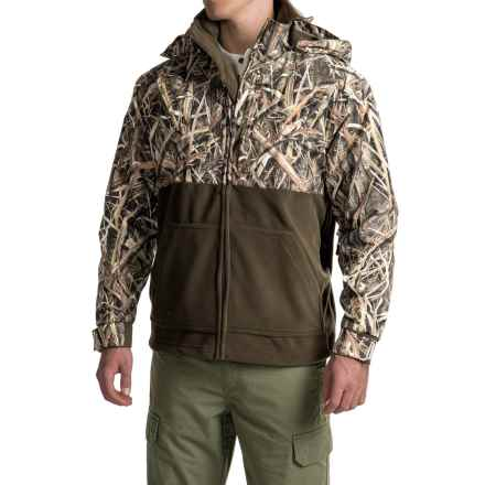 Drake MST Eqwader Deluxe Full-Zip Camo Jacket - Waterproof (For Men) in Mossy Oak Shadow Grass Blades - Closeouts