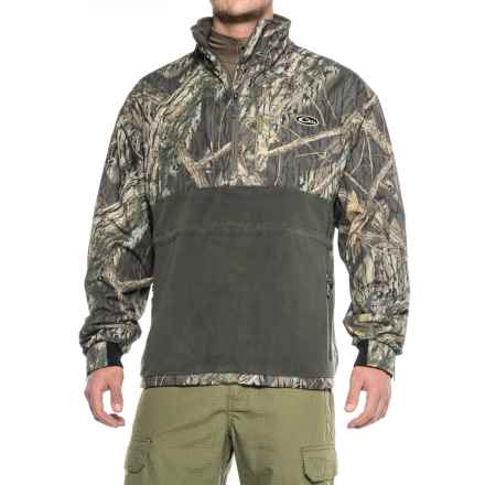 Drake MST Eqwader Zip Neck Jacket - Waterproof, Fleece Lined (For Big and Tall Men) in Shadow Branch - Closeouts