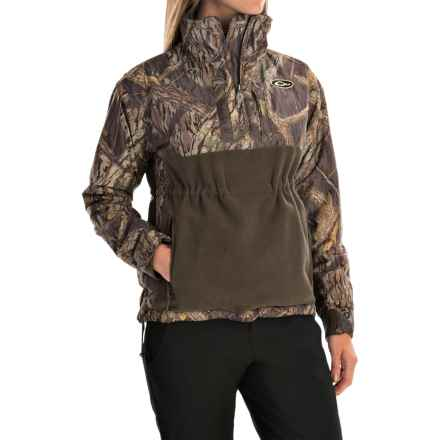 Drake MST Eqwader Zip Neck Jacket - Waterproof, Fleece Lined (For Women) in Shadow Branch - Closeouts